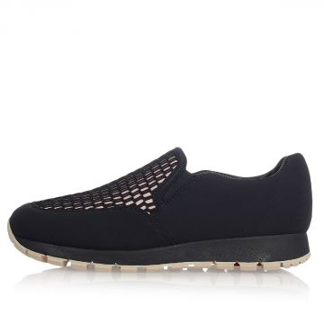 Bicolor Fabric Slip On Sneakers