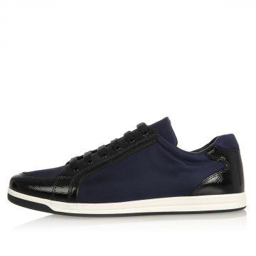 Sneaker in Pelle e Nylon