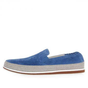 Sneaker Slip On in Pelle Scamosciata