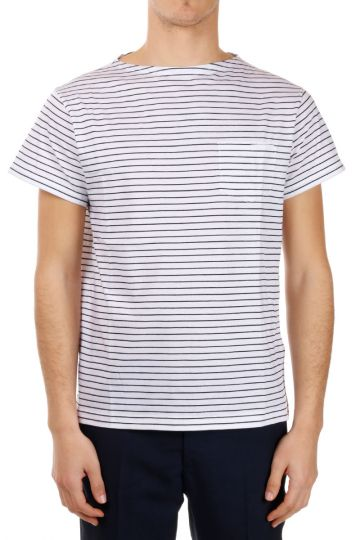 T-shirt in Jersey di cotone a Righe