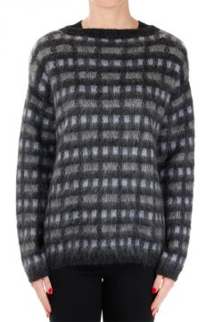 Jacquard Mohair Blend Sweater