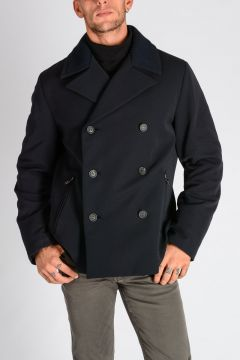 Peacoat in Gabardine Tech