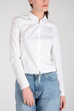 Zipped Cotton Blouse