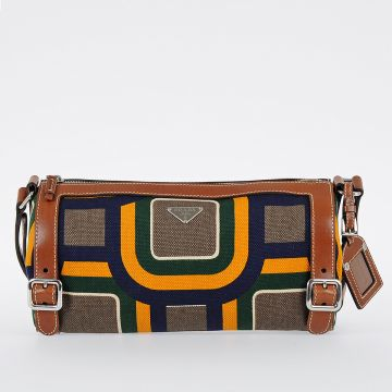 Leather and Canvas ST.SOHO Shoulder Bag