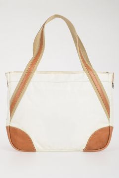 Leather and Fabric Shopper Bag