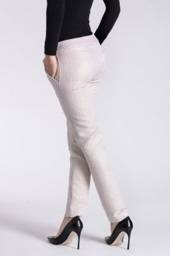 Cotton Blend Pants with Glitter