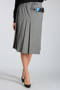 Virgin Wool Blend Skirt