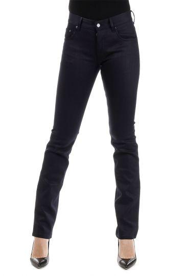 Jeans 5 tasche In Denim Scuro 17 cm