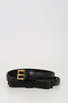 14mm Leathe Belt with Bow