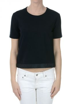Piquet Stretch T-shirt with Drawstring