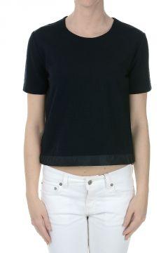 Piquet Stretch T-shirt with Drawstring