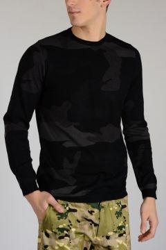Virgin Wool blend Sweater Camouflage