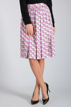 Midi Cotton Blend Skirt