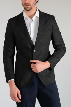 Virgin Wool & Mohair Blazer