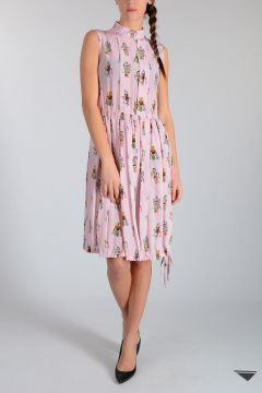 Silk Robots Printed Dress