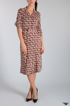 Floral Printed Viscose Dress