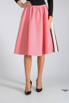 Houndstooth Virgin Wool Skirt