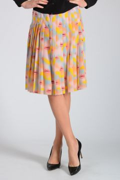 Silk LIPS Skirt