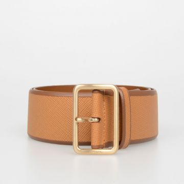 50mm Saffiano Leather Belt