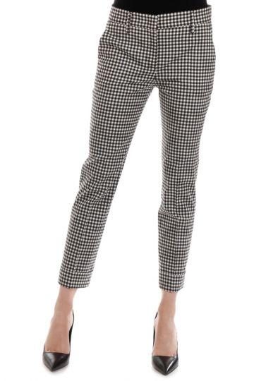 Pantaloni in Misto Lana Stampa Vichy