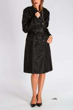 Gabardine Nylon Trench Coat
