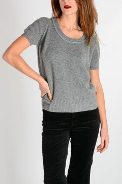 Cashmere Wool Short Sleeves Sweater