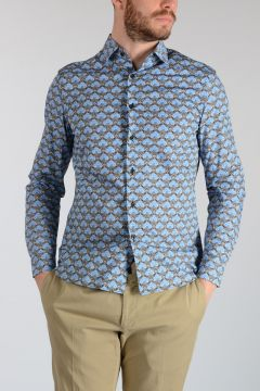 Floral Pattern Cotton Poplin Shirt