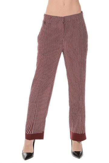 Pantaloni in Seta a Pois