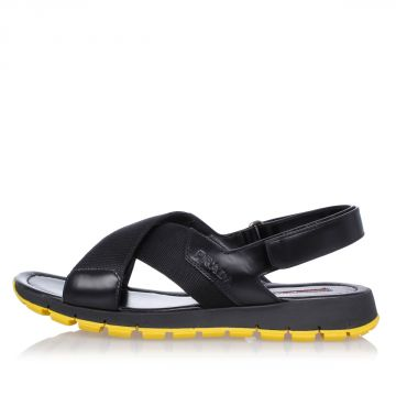 Flat rubber leather Sandals