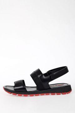 Sandalo In Gomma & Pelle