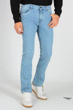 Jeans in Denim di Cotone 18 cm