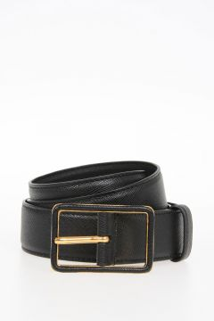 Leather SAFFIANO Belt 30 mm