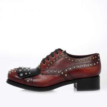 Brushed Leather Studded Shoes