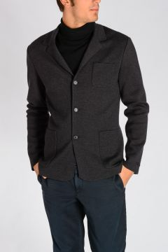 Virgin Wool Knitted Blazer