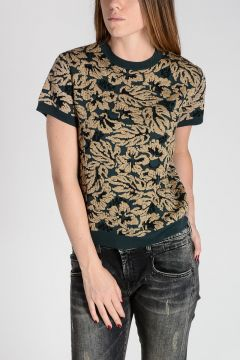 Hibiscus Brocade Sweater