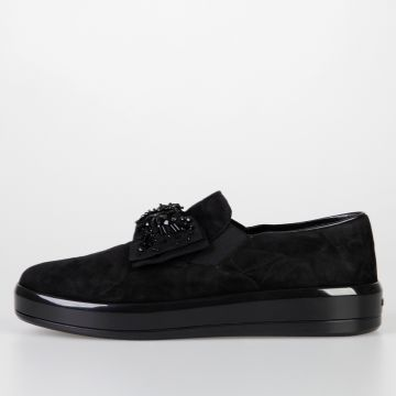 Suede Leather Slip On Sneakers