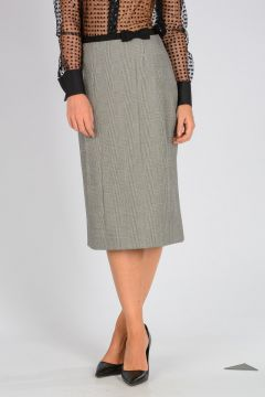 Wool Printed Galles Skirt