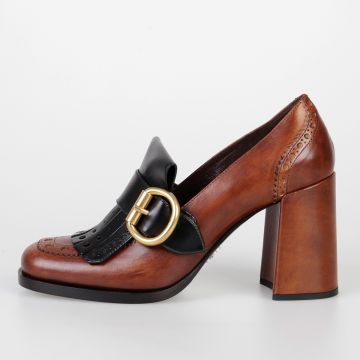 8,5 cm Bicolor Leather Pumps