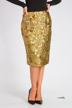 Brocade Fabric CLOQUET IBISCUS Skirt