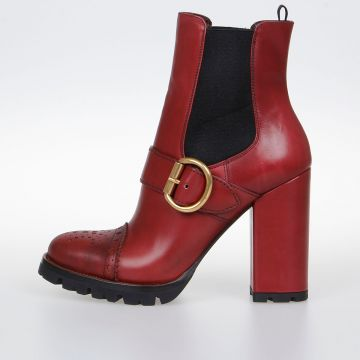 Leather Pull On Booties