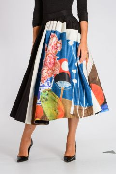 Silk Flared Skirt