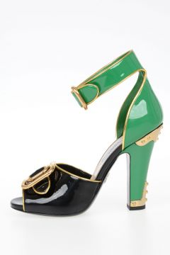 12cm Patent Leather Sandals