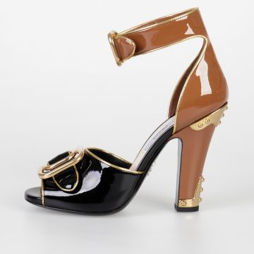 11 cm Bicolor Patent Leather Sandals