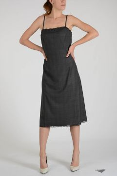 Wool Galles Moulinè Dress