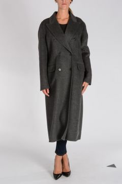 Virgin Wool and angora Peacoat
