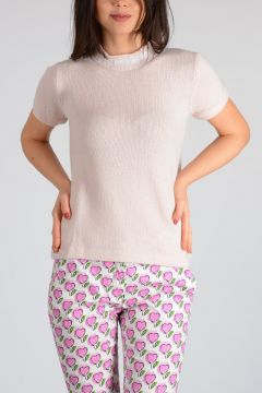 Short Sleeves Cashmere Sweater