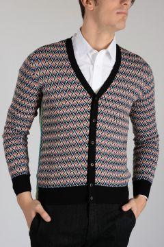 Virgin Wool Silk Blend Cardigan