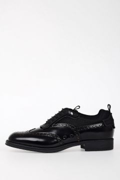 Fabric Leather Laced Oxford