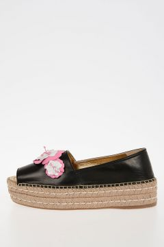 Leather Platform Espadrillas