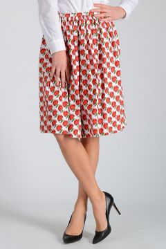 Cotton blend LOVE Print Skirt
